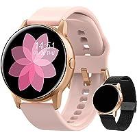 Smartwatch voor dames, fitnessarmband, horloge, gratis metalen band, sport, bluetooth, calorieënteller, hartslagmeter…