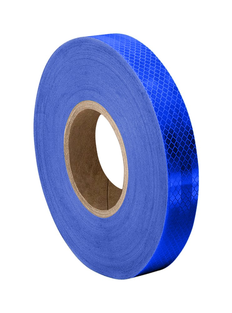 3M 3435 Blue Reflective Tape Roll – 0.563 in. x