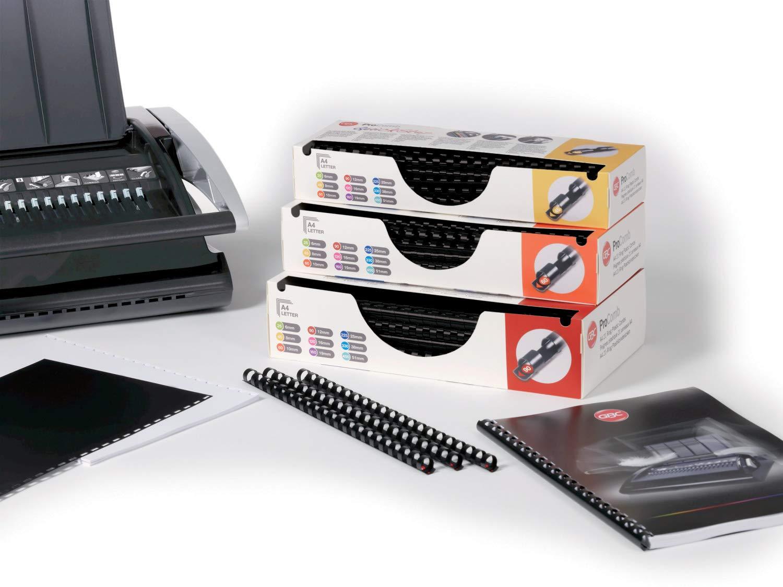 Nero A4 4400321 45 Fogli di Capacit/à GBC Anelli Plastici ProComb 8 mm Confezione da 100