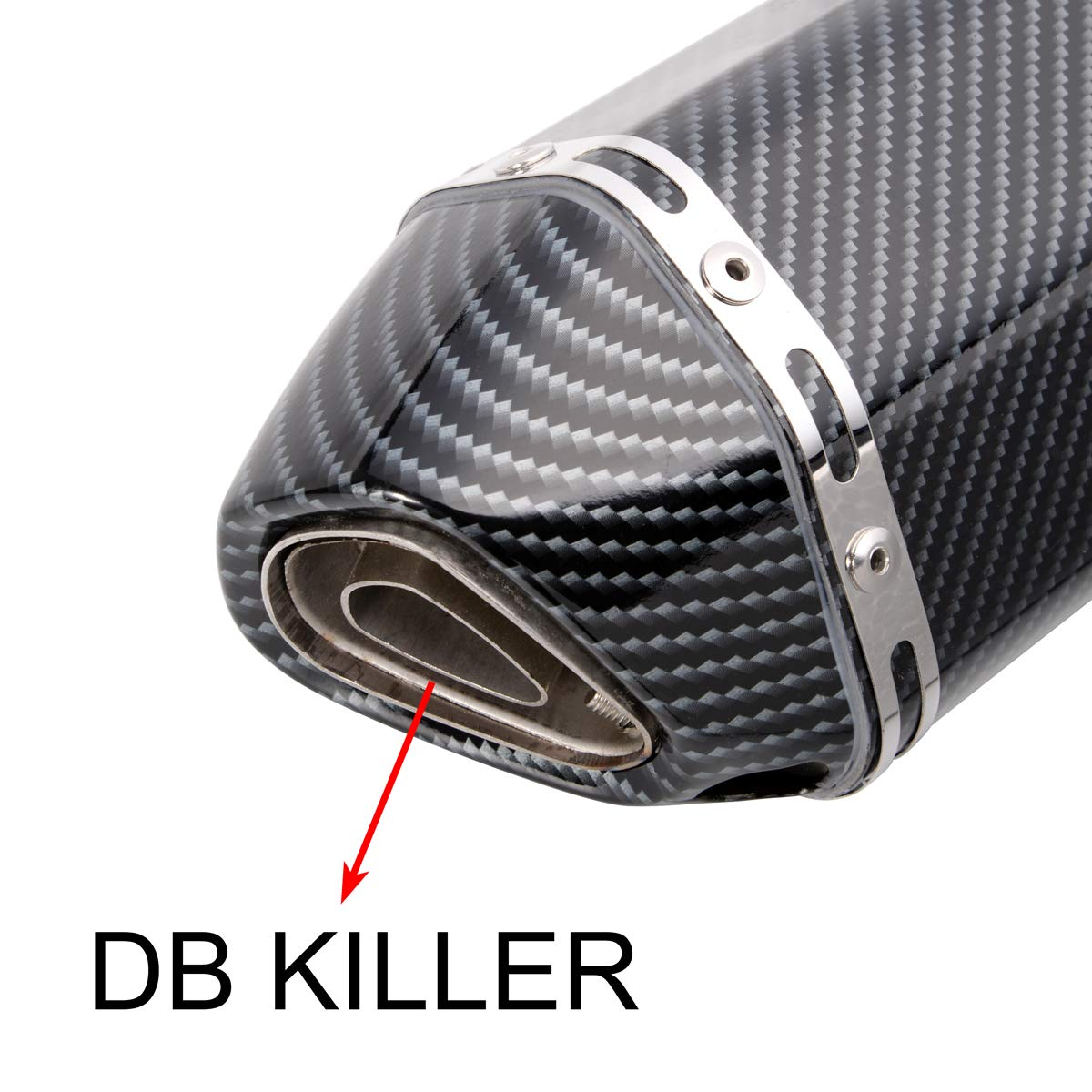 dirt bikes scooters Heran 38-51mm Universal Motorcycle Exhaust Muffler Slip On w//DB Killer fits most motorcycles
