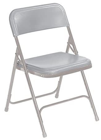 Amazon.com: Plástico ligero – Silla plegable, color gris ...