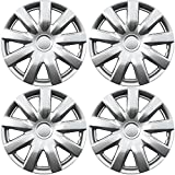 hubcaps toyota camry 15 - OxGord Hubcaps for Toyota Camry (Pack of 4) Wheel Covers - 15 Inch, 9 Spoke, Snap On, Silver