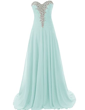 98c80afd7ef JAEDEN Prom Dress Long Chiffon Evening Gown Beading Prom Party Gown  Strapless