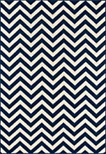 """Momeni Rugs BAJA0BAJ-9NVY5376, Baja Collection Contemporary Indoor & Outdoor Area Rug, Easy to Clean, UV protected & Fade Resistant, 5'3"""" x 7'6"""", Navy Blue"""