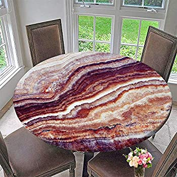 Amazon Com Pinafore Home Round Tablecloth Marble Stone