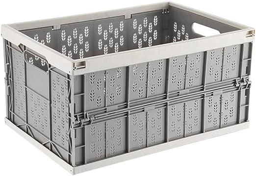 Vlook 2 Unids Plegable Caja de Almacenamiento de Coche Organizador Tronco Cesta Acabado Cajón Plástico Gris Portátil Resistente para Vehículos Familia Vans Travel and Camp (Gris): Amazon.es: Hogar