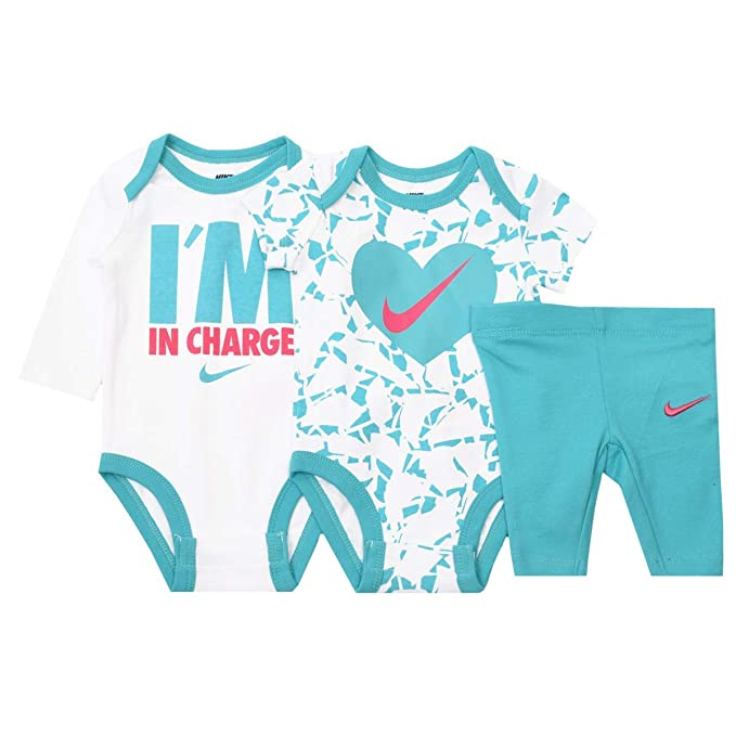 1473c5907ae Image Unavailable. Image not available for. Color: Nike Jordan Baby Boys' 3  Piece 2 Bodysuits and 1 Pants ...