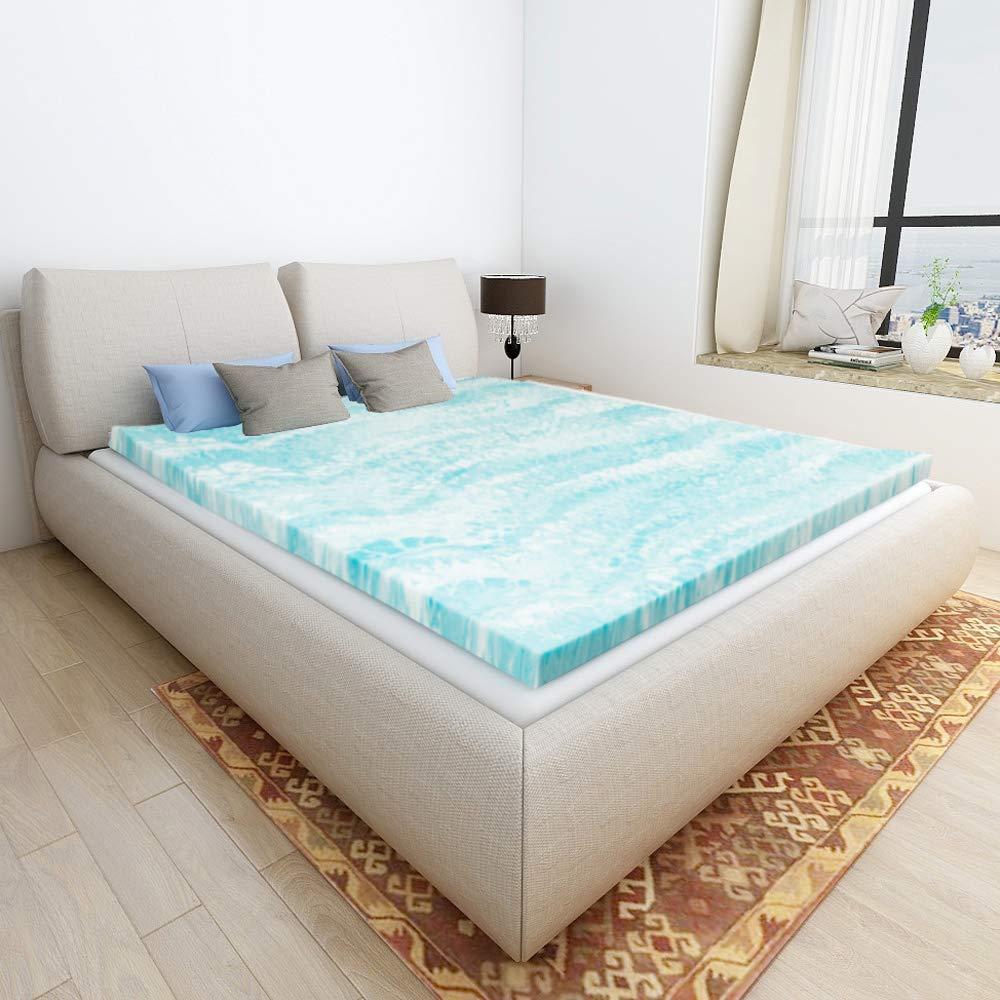 Mattress Topper Queen, Gel Memory Foam Mattress Toppers for Queen Size Bed, 2 Inch by Milemont