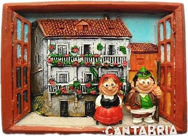 Weekino Souvenir Etiqueta engomada de la colección del Recuerdo del Viaje del Viaje de la Ciudad 3D de la Resina 3D de Cantabria España: Amazon.es: Hogar