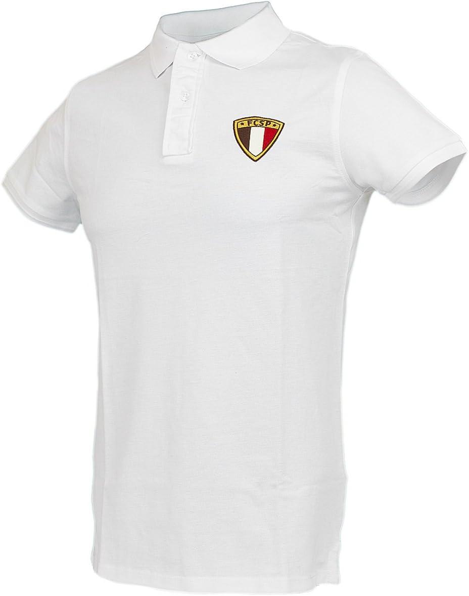 FC St. Pauli Tricolor Polo Camiseta, Weiß, small: Amazon.es ...