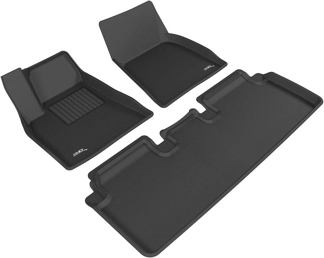 Black Kagu Rubber 3D MAXpider Front Row Custom Fit All-Weather Floor Mat for Select Chrysler Sebring Models