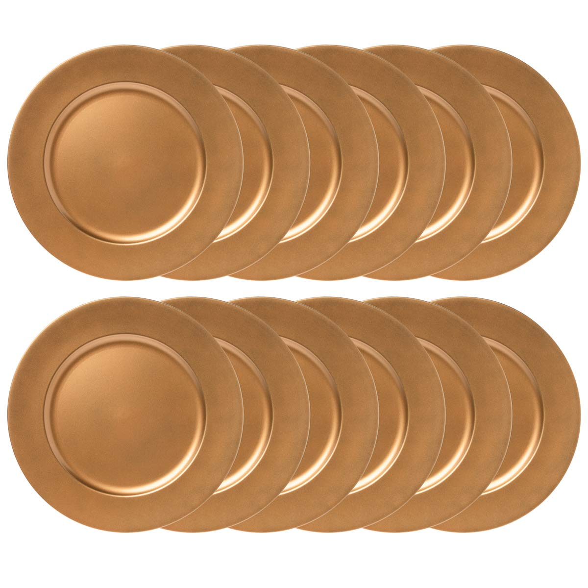 12 Pack 13 Round Charger Plate Set Dining Table Home Decor Plates Lincoln International Products
