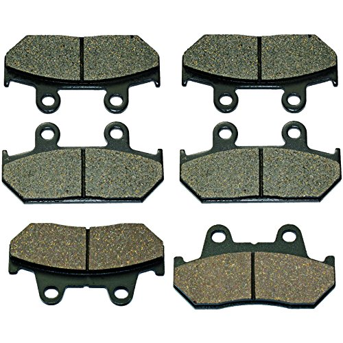 Caltric FRONT & REAR BRAKE PADS Fits HONDA GL1500SE GL-1500SE GOLDWING 1500 SSPECIAL EDITION 1988-2000