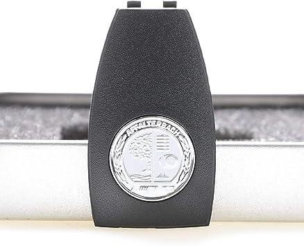 Droya Parti di copertura delle chiavi in metallo cromato A000890023 Compatible per Benz AMG W204 W205 W207 W166 W218 W212 W221 W222