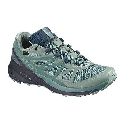 Salomon Women's Sense Ride GTX Invisible FIT W Sneaker, Trellis/Graphite/Hydro.   Water Shoes