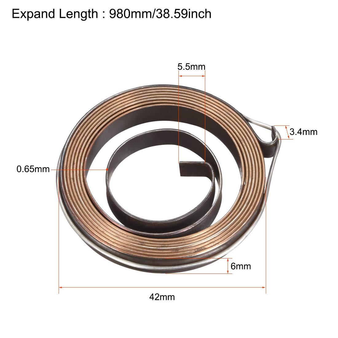 sourcing map 3Pcs Perceuse Ressort Aliment Penne Bobine Assemblage 680mm 35x6x0.5mm
