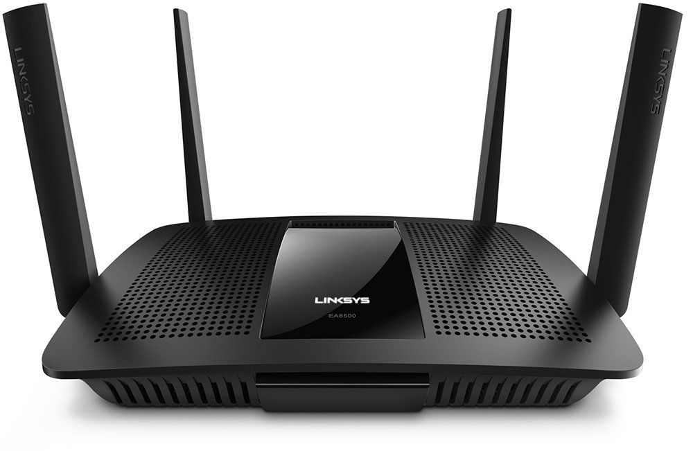 Linksys AC2600 4 x 4 MU-MIMO Dual-Band Gigabit Router with USB 3.0 and eSATA (EA8500) by Linksys