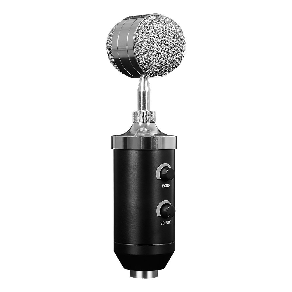 HIOTECH Condenser Microphone Professional Studio Desktop Recording Mic Microphone with Pop Filter & Tripod for Comouter Podcast Broadcast YouTube Studio