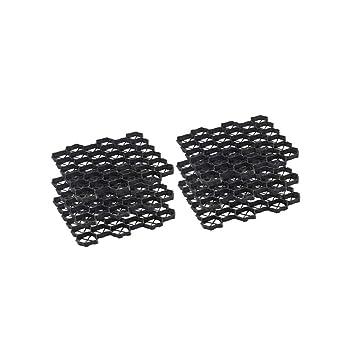 OSE Stabilisateur de Gravier Dalles - par 6 Noir 41 cm: Amazon.fr ...