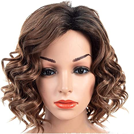Wig Women S Wig Brown Wig Shoulder Length Hair Curls Hair Light And Breathable Amazon Co Uk Health Personal Care