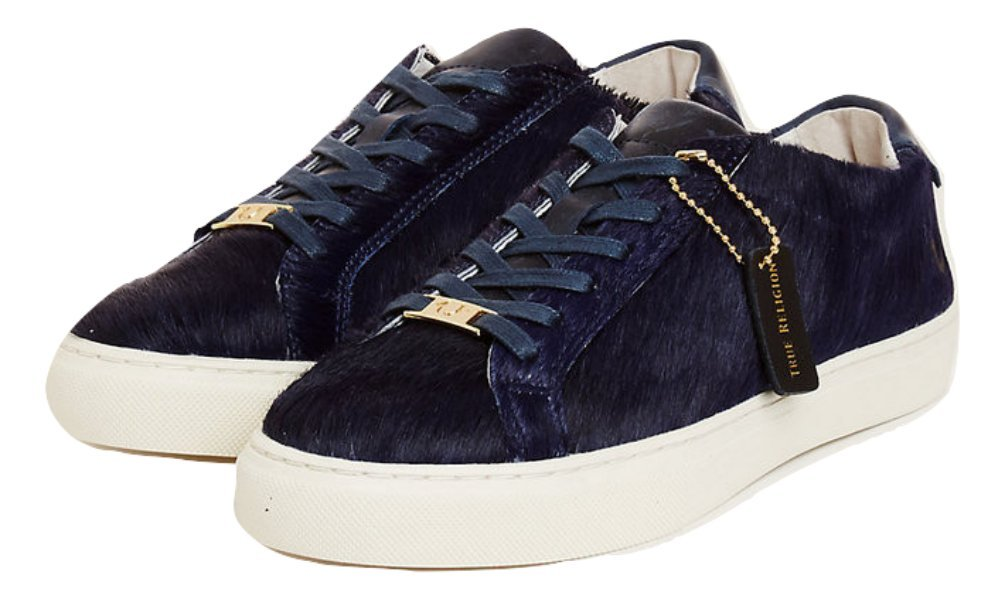 True Religion Womens TR Low-Top Sneakers (9, Navy)