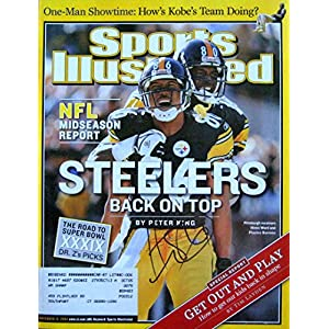 Hines Ward STEELERS autographed Sports Illustrated magazine 11/15/04