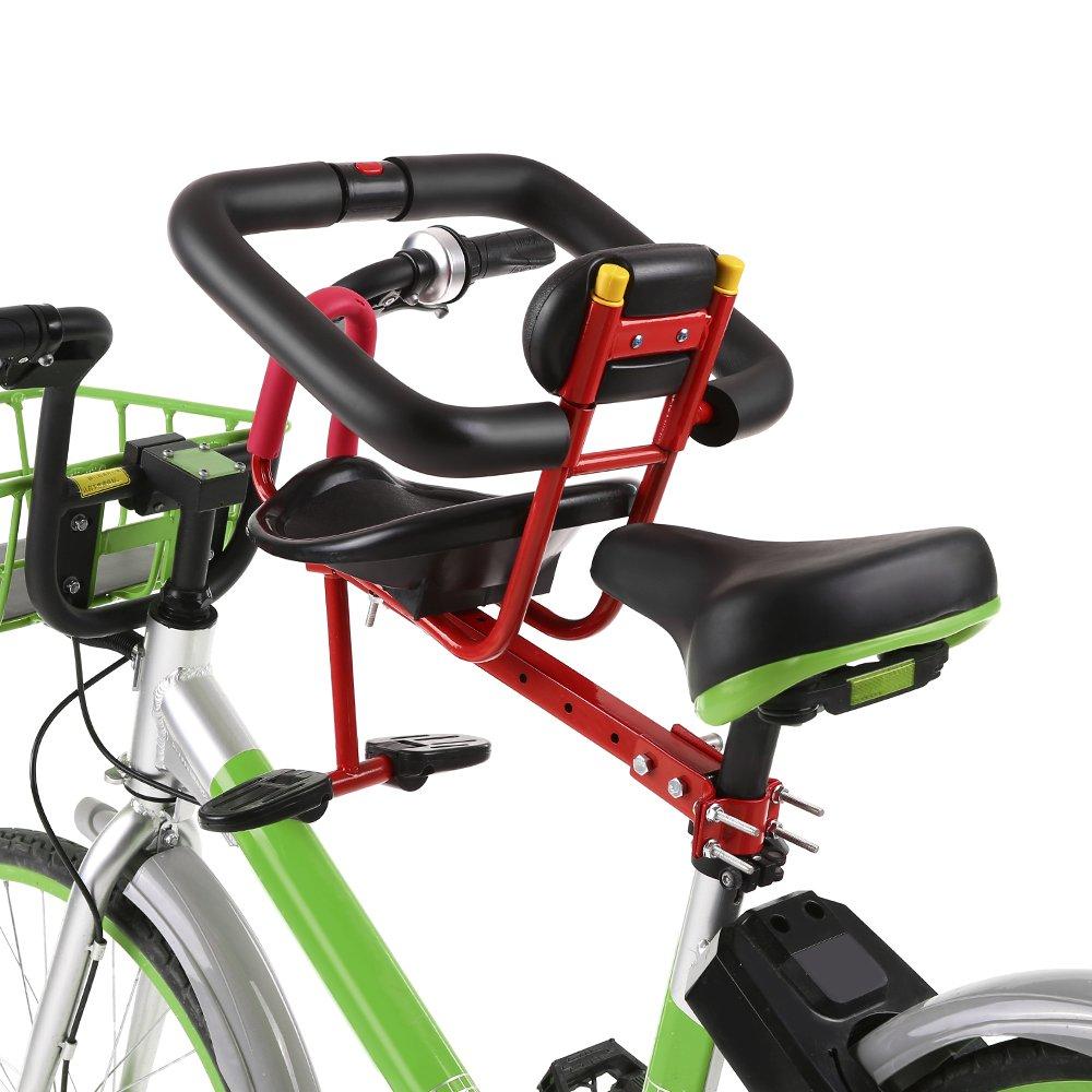 Lixada Enfant Si/ège /à Bicyclette Enfant Selle V/élo Bike Front Mount Enfant S/écurit/é Si/ège Avant Si/ège Transport