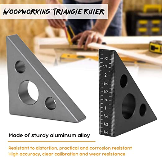 1pcs Adjustable Stainless Steel Corner Angle Finder Ceiling Artifact Tool Square Protractor Multi Angle Measuring Ruler Template Tool for Craftsmen Engineer or DIY Lover