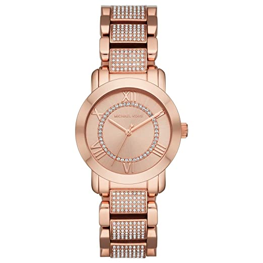 4d797b938110 Michael Kors Rose Gold Tone and Crystal Stainless Steel Women s Watch  (MK3687)