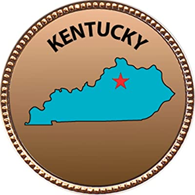 Keepsake Awards Kentucky Award, 1 inch Dia Gold Pin State Studies Collection: Toys & Games