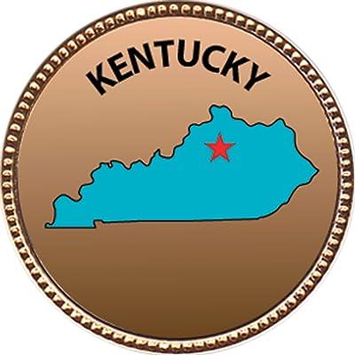 Keepsake Awards Kentucky Award, 1 inch Dia Gold Pin State Studies Collection: Toys & Games