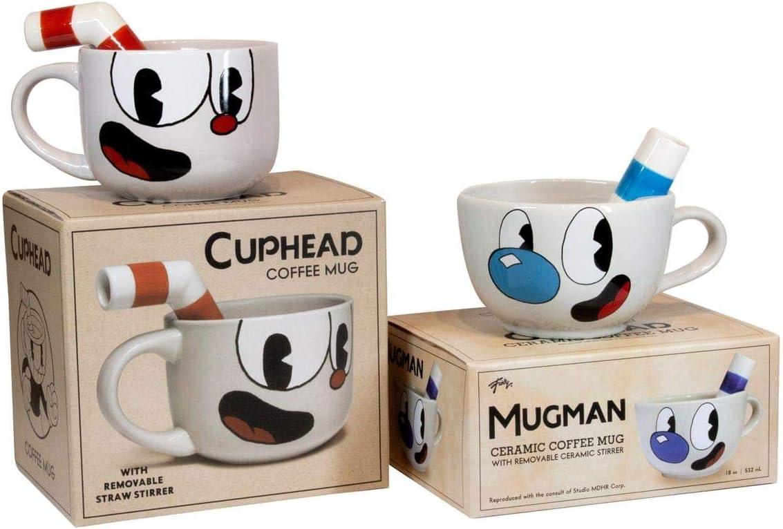 Amazon.com: Cuphead - Juego de tazas de cerámica moldeada de ...