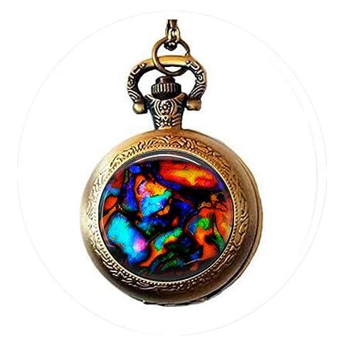 aaaAA - Collar de Azulejos de Cristal con Imagen de Gema ...