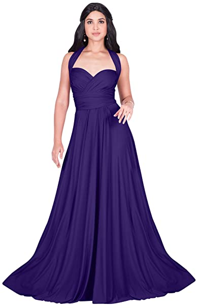 1363da554a Koh Koh Womens Long Bridesmaid Multi-Way Wedding Convertible Wrap Infinity  Cocktail Sexy Summer Party