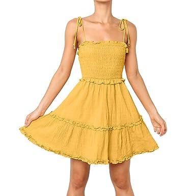 Overdose Vestido de Las Mujeres, Vestido sin Mangas de la Cintura ...