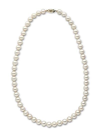 1b8200c1e058 La perla de las mujeres de paraíso 14 K collar de perlas de agua dulce   Amazon.es  Joyería