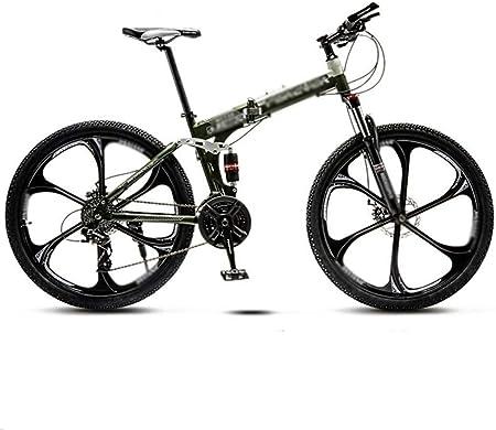 Montaña bicicleta plegable hombres y mujeres, de 24 pulgadas de velocidad variable de 21 velocidades bicicleta de montaña, Doble de absorción de choque 6-cuchillo Ruedas Estudiante MTB Racing, Carrete: Amazon.es: Hogar