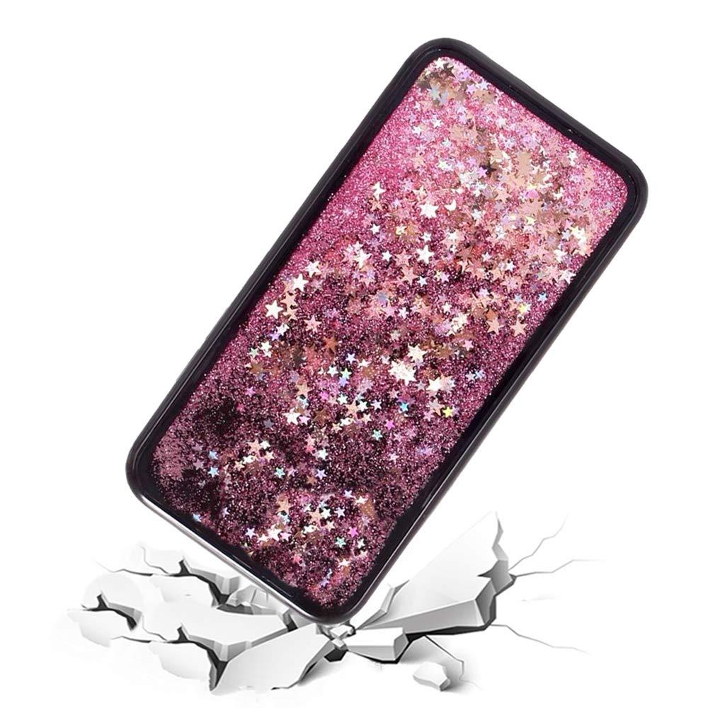 Carcasa brillante líquida para Samsung Galaxy S6 Edge, Gold Sterne ...