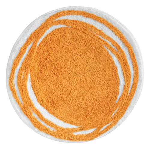 Orange Bamboo Rug - InterDesign Doodle Bedroom and Bathroom Accent  Rug, Orange