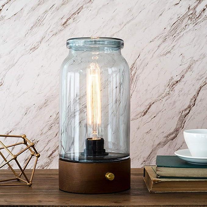 Moderna Lámpara de mesa de cristal colorido colorido Latas Luces ...