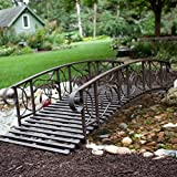 Willow Creek 8-ft. Metal Garden Bridge