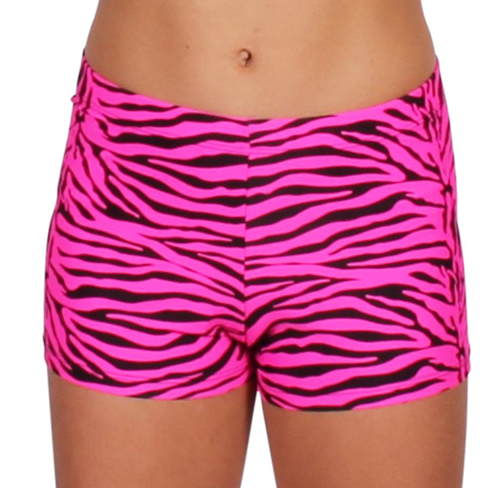 Gia Mia Girl's Print Dance Short Medium (8-10) Pink Zebra