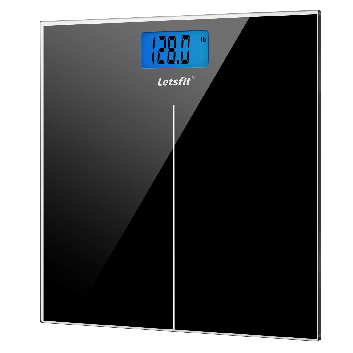 Letsfit Digital Body Weight Scale, Bathroom Scale with Large Backlit Display, Step-On Technology, High accuracy 0.1lb…