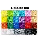 Fuseビーズ、Itoy & iGame Fusionビーズキット0.1インチ24色12000pcs FuseビーズマルチカラーFun Fusion Beads子DIYクラフトおもちゃ WJ1448ITG006