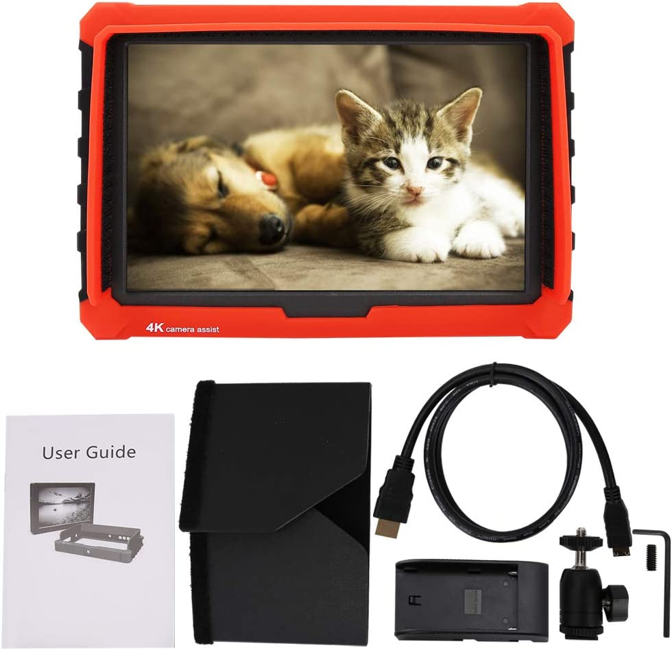 4K Full HD 19201200 Video Monitor of High Resolution and 170/°Wide Viewing Angle for DSLR Camera Mugast 7Inch IPS Screen Camera Monitor