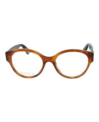 9288aa5726d Amazon.com  Eyeglasses Gucci GG 0099 O- 003 AVANA    Clothing