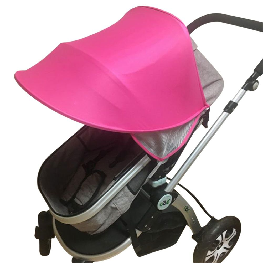 Baby Stroller Awning Pushchair Sun Shade Canopy Summer UV Protection Sun Shield Windproof Waterproof Umbrella Universal Baby Carriages Sunshade Wide Cover for Prams Buggies with Arched Hard Support