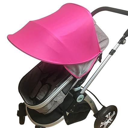 Toldo para cochecito de bebé, protección UV, resistente al viento, resistente al agua, paraguas universal para cochecito de bebé, con soporte duro ...