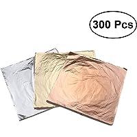 ULTNICE 300 unids hoja de oro de imitación