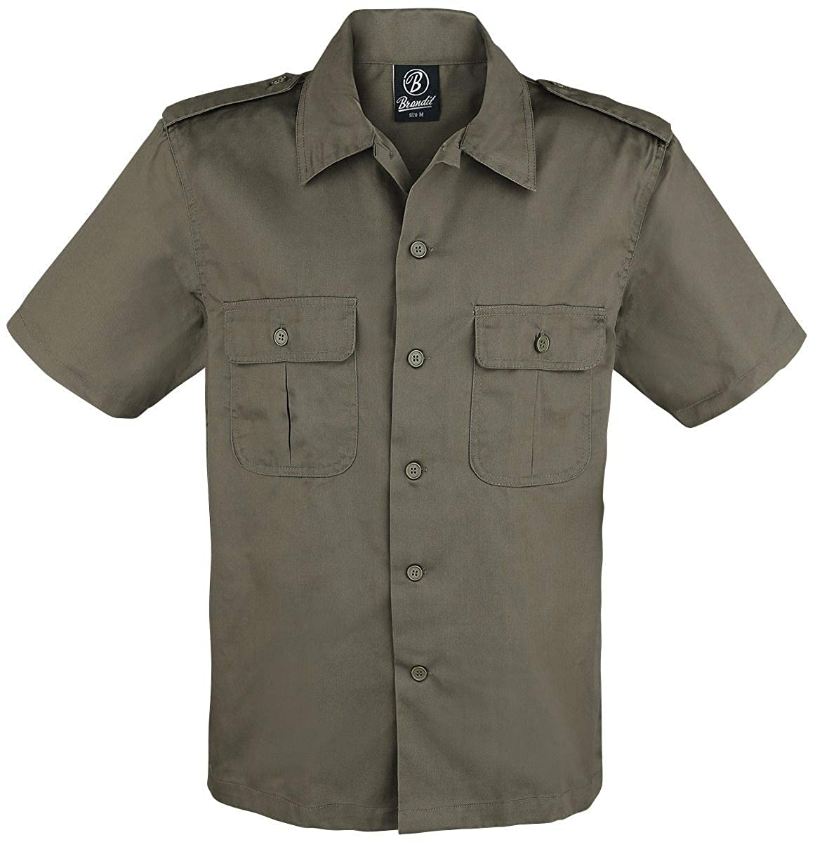 Brandit Hombres Camisa 1/2 Beige